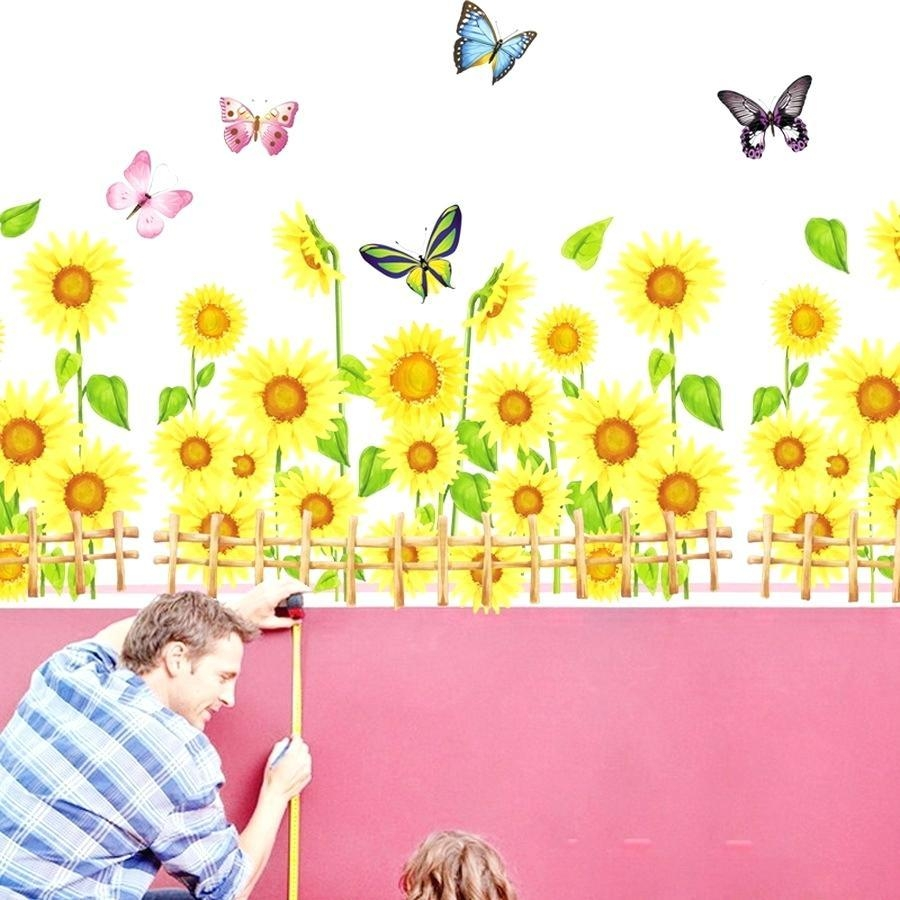 Wall Ideas: Sunflower Wall Decor (Image 19 of 20)