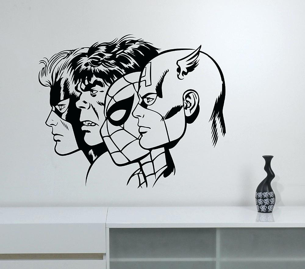 Wall Ideas: Superhero Wall Art. Superhero Wall Art (Image 20 of 20)