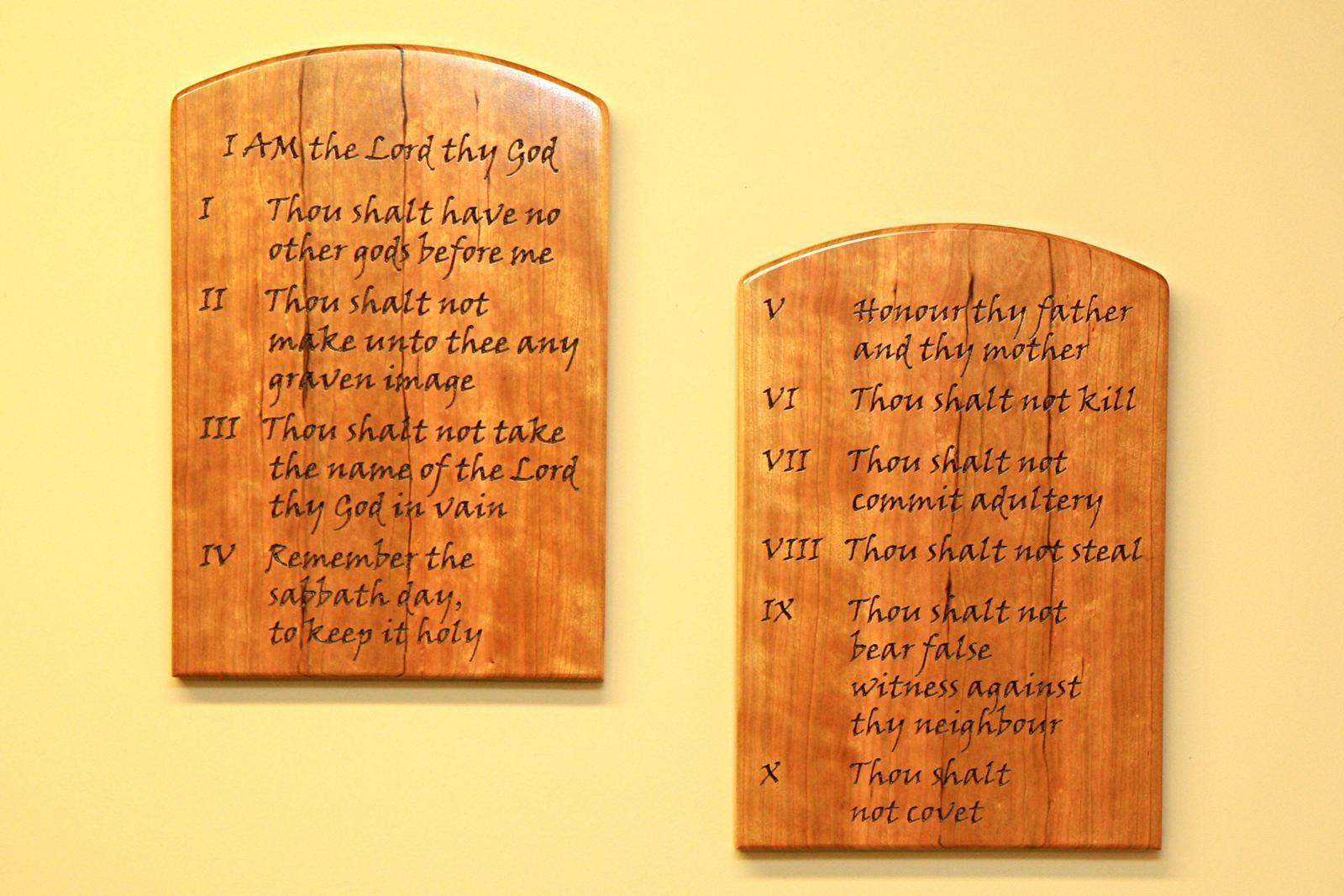 Featured Photo of Ten Commandments Wall Art