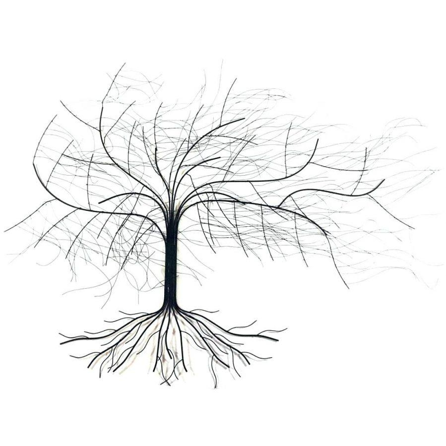Wall Ideas : Tree Of Life Metal Wall Art Large Metal Tree Wall Art With Contemporary Large Oak Tree Metal Wall Art (Image 20 of 20)