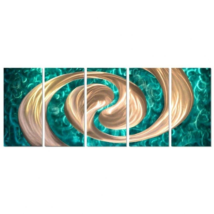 Wall Ideas : Turquoise Bloom Metal Wall Art Turquoise Metal Flower Intended For Turquoise Metal Wall Art (View 6 of 20)