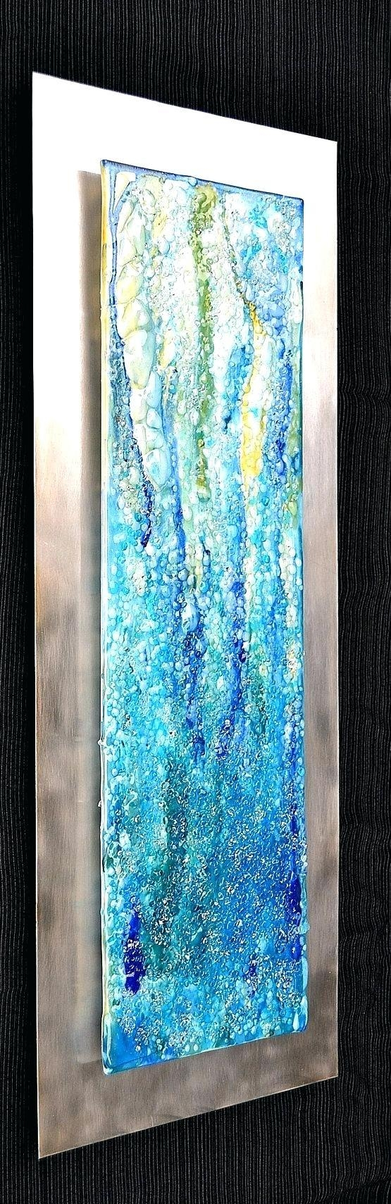 Wall Ideas : Turquoise Bloom Metal Wall Art Turquoise Metal Flower Within Fused Glass And Metal Wall Art (Image 19 of 20)