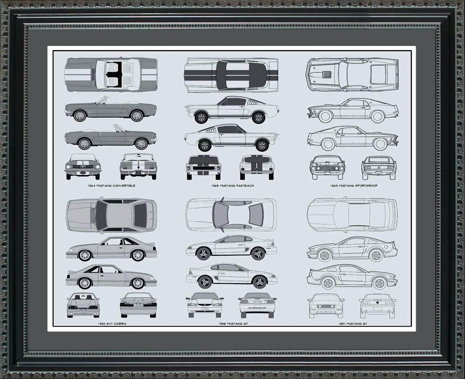 Wall Ideas : Vintage Blueprint Wall Art Plane Blueprint Wall Art Within Ford Mustang Metal Wall Art (View 18 of 20)