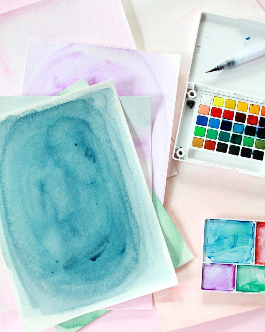 Wall Ideas : Wall Art Diy Watercolor Photo Mats Abstract Intended For Diy Watercolor Wall Art (Image 18 of 20)