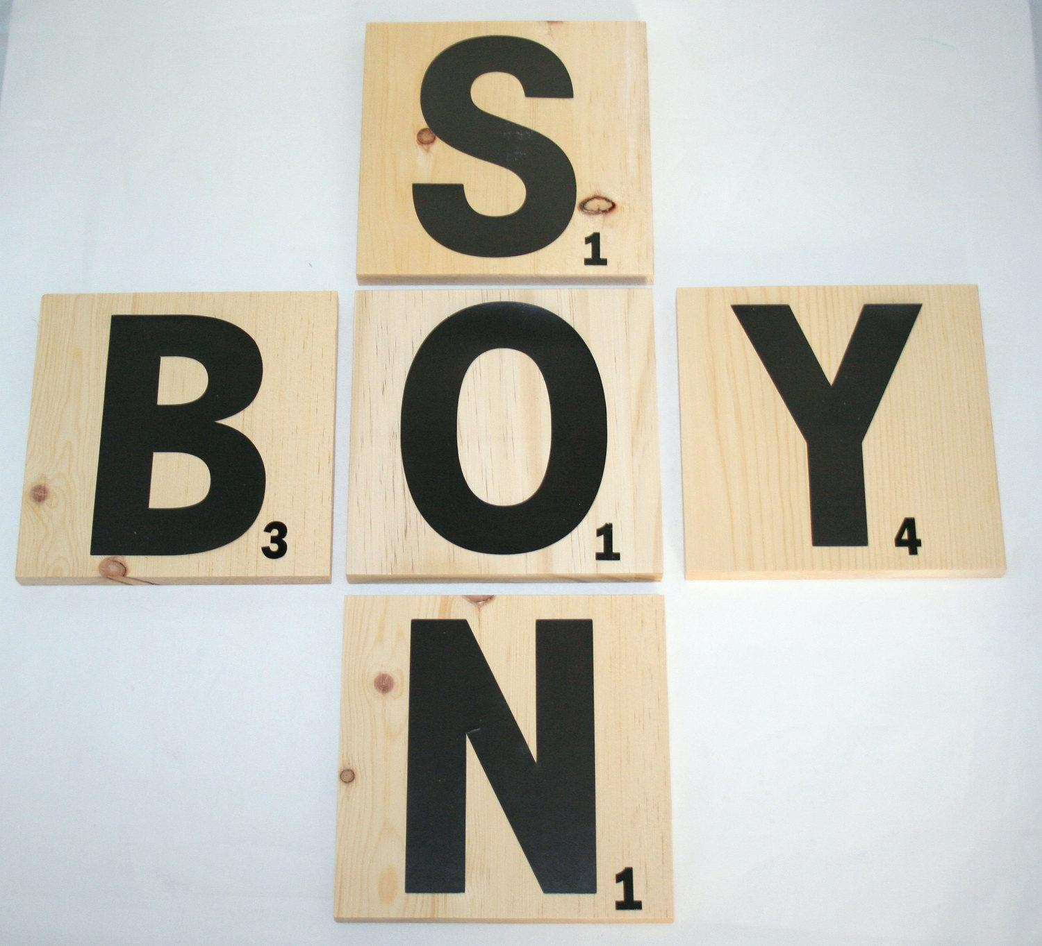 Wall Ideas : Wall Art Stickers Alphabet Four 10 In X 10 In New Intended For Scrabble Letters Wall Art (Image 19 of 20)