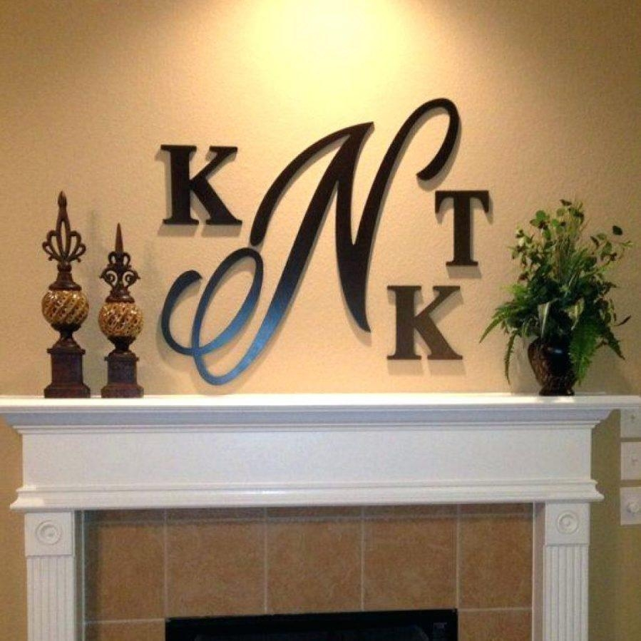Wall Ideas : Wall Decor Letter Decorations For Walls Monogram With Regard To Decorative Metal Letters Wall Art (Image 16 of 20)