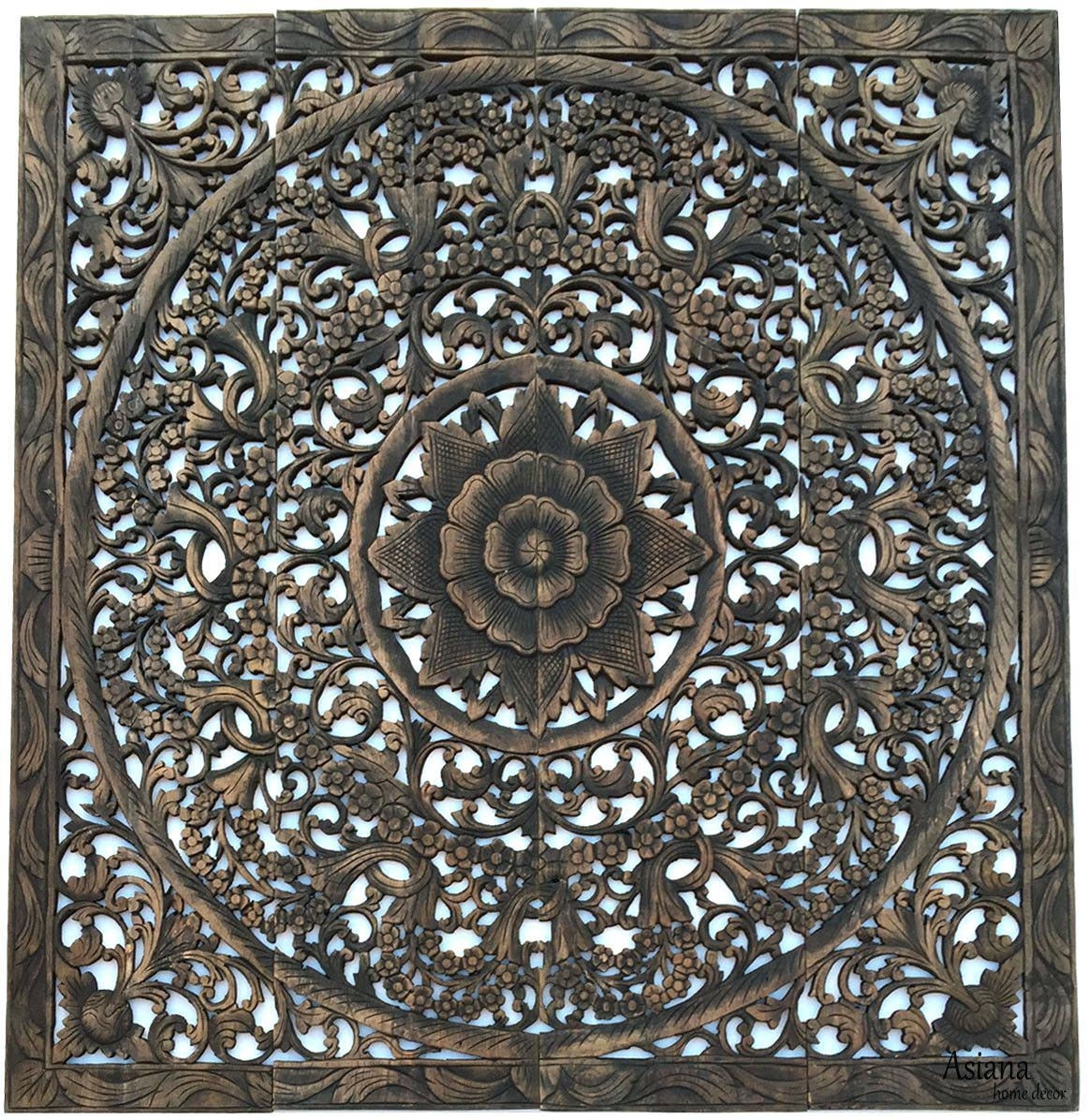 Wall Ideas : White Carved Wood Wall Art Uk Indian Carved Wooden Pertaining To Tree Of Life Wood Carving Wall Art (View 9 of 20)