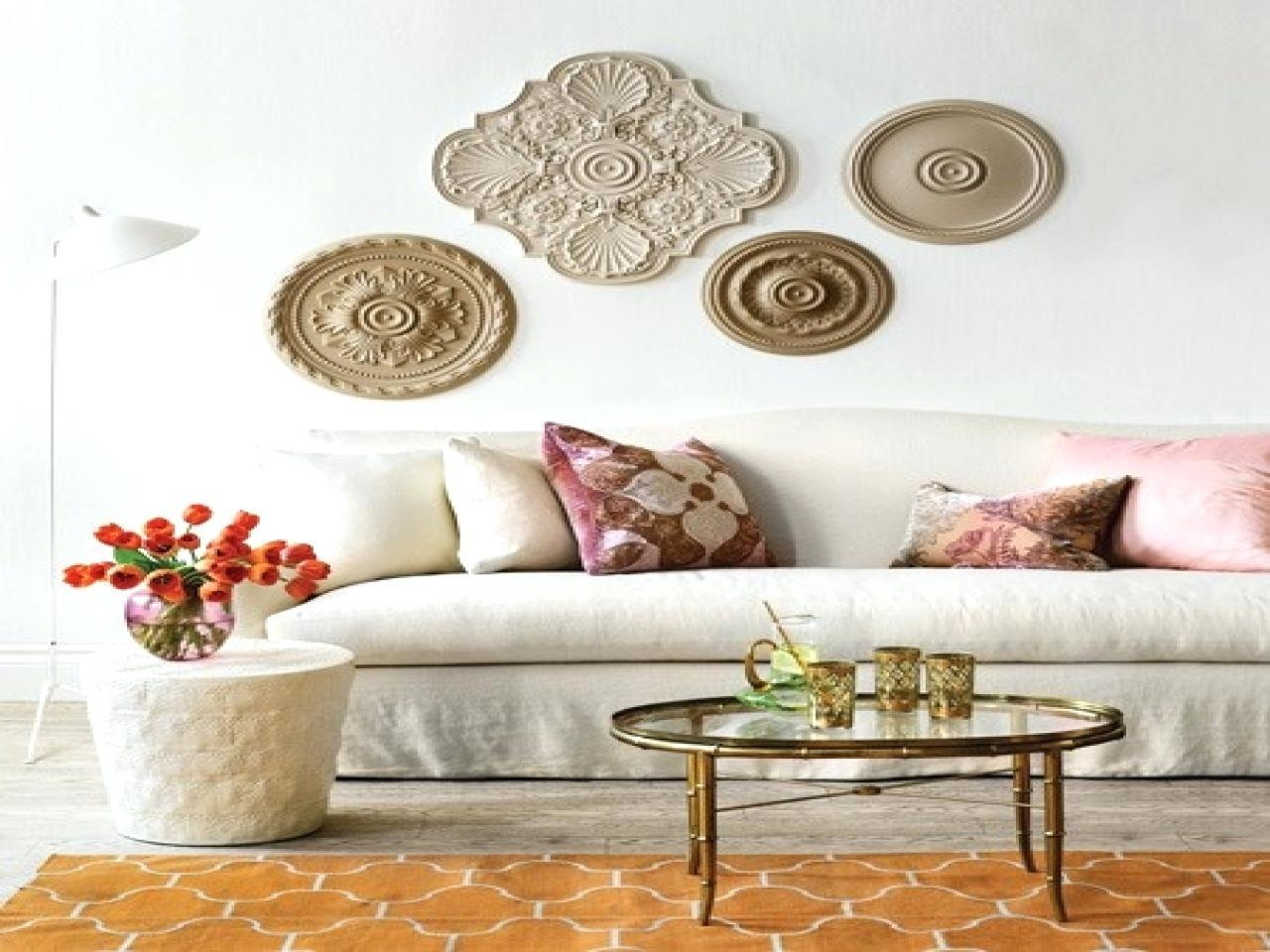 Wall Ideas : White Medallion Wall Decor Metal Medallion Wall Decor Throughout White Medallion Wall Art (Image 12 of 20)
