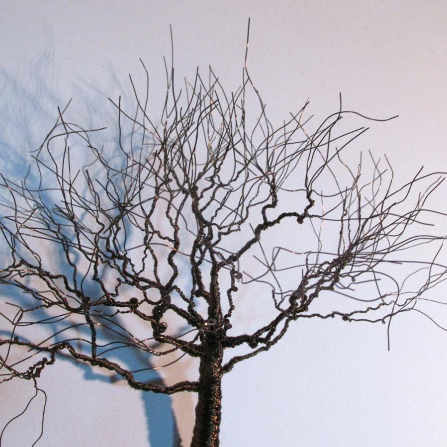 Wall Ideas : Wood And Metal Wall Art Metal Tree Wall Art With Pertaining To Oak Tree Large Metal Wall Art (View 7 of 20)