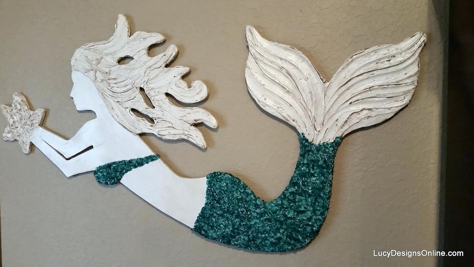 Wall Ideas: Wooden Mermaid Wall Art (View 1 of 20)