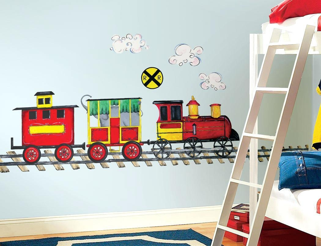 Wall Ideas : Wooden Train Wall Decor Train Wall Decor Nursery Throughout Thomas The Tank Wall Art (View 15 of 20)