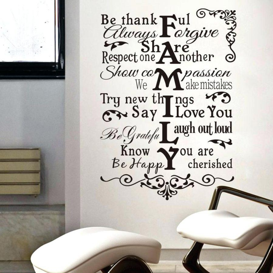 Wall Ideas : Writing Wall Art Decor Uk Wall Sayings Decor Wire Throughout Family Sayings Wall Art (View 5 of 20)
