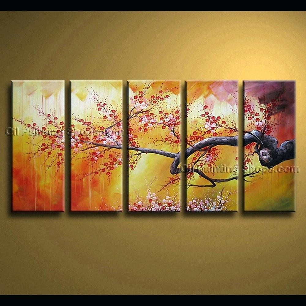 Wall Ideas : Zoom Cherry Blossom Tree Canvas Wall Art Cherry Inside Cherry Blossom Vinyl Wall Art (View 14 of 20)
