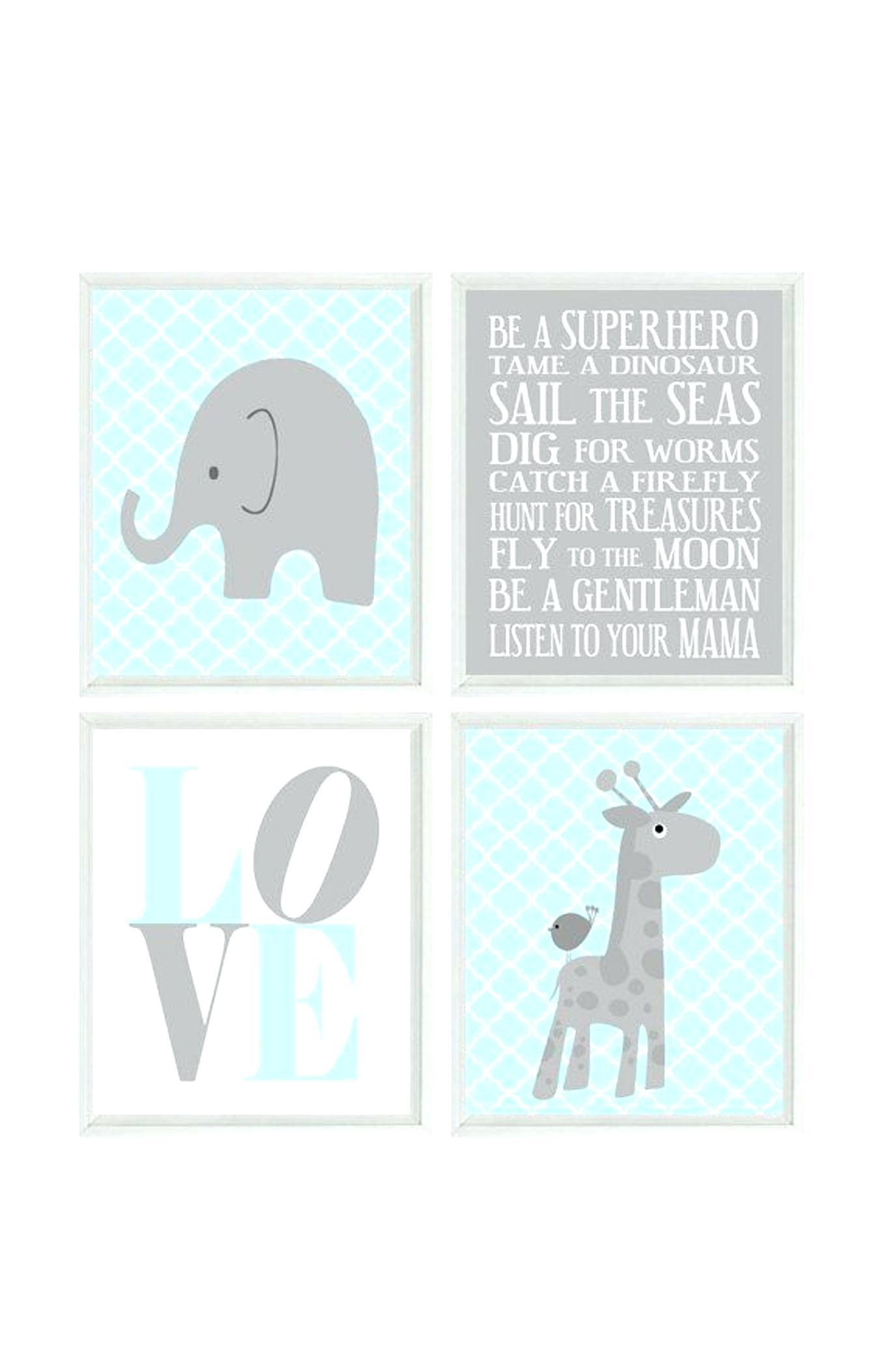 Wall Ideas : Zoom Elephant Nursery Wall Art Baby Elephant Nursery Within Elephant Wall Art For Nursery (View 8 of 20)