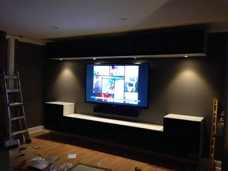 Wall Mounted Ikea Bestas And Under Cabinet Lights With Smoked With Regard To Newest Wall Mounted Tv Cabinet Ikea (View 9 of 20)