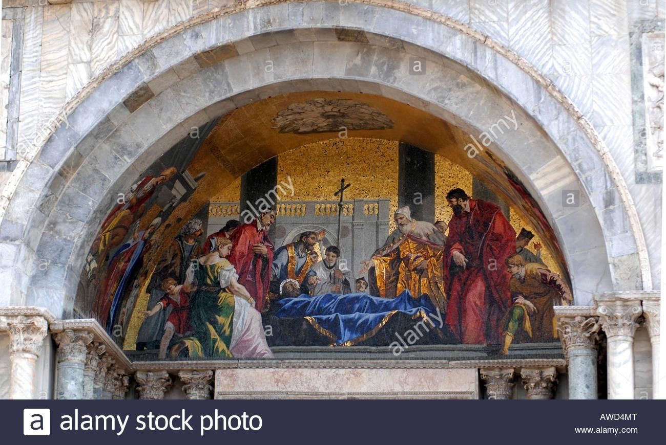 Wall Mural At St Mark's Basilica (Italian: Basilica Di San Marco A For Italian Art Wall Murals (Image 15 of 20)