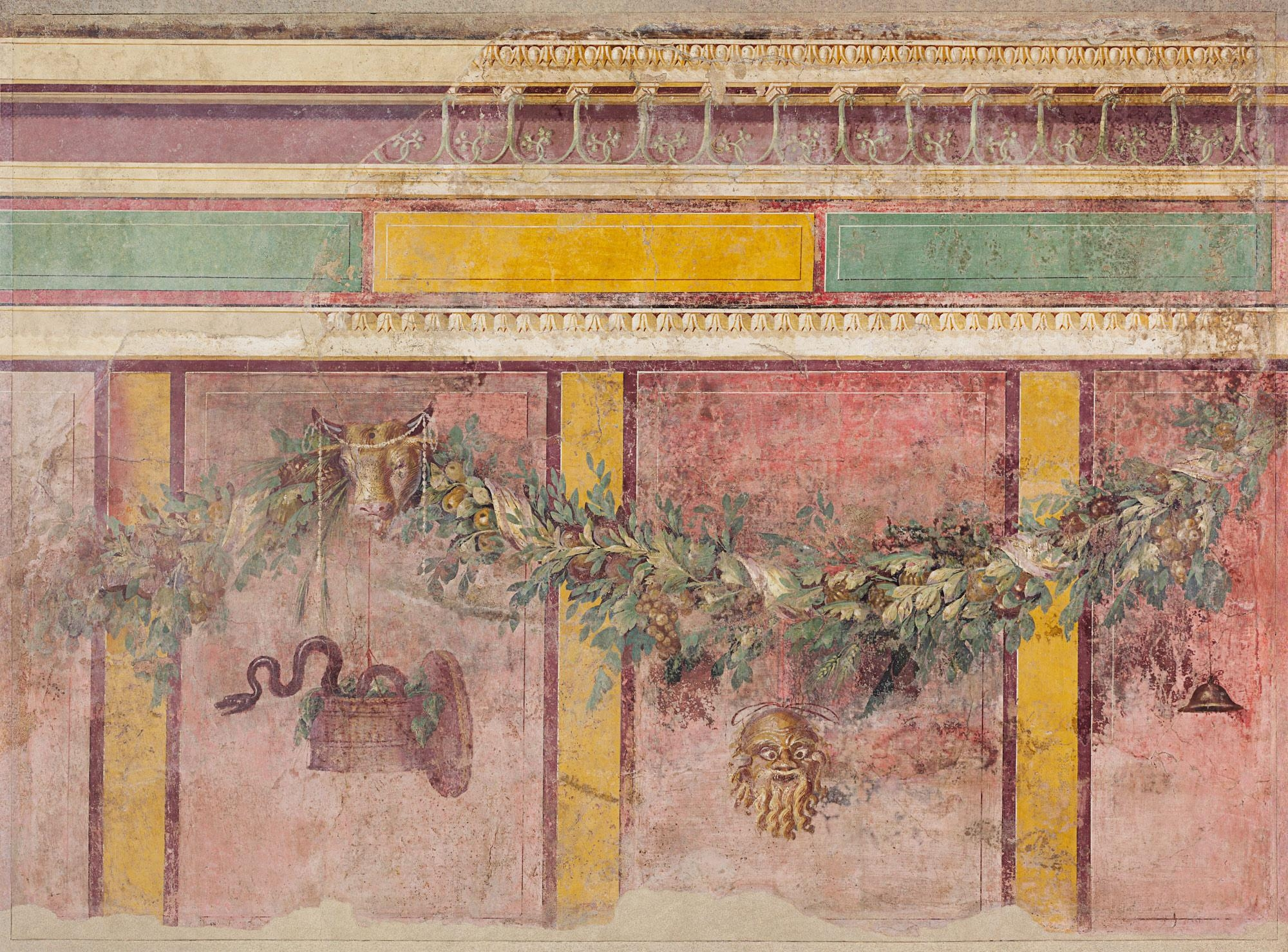 Wall Painting From The West Wall Of Room L Of The Villa Of P Within Italian Villa Wall Art (Image 20 of 20)