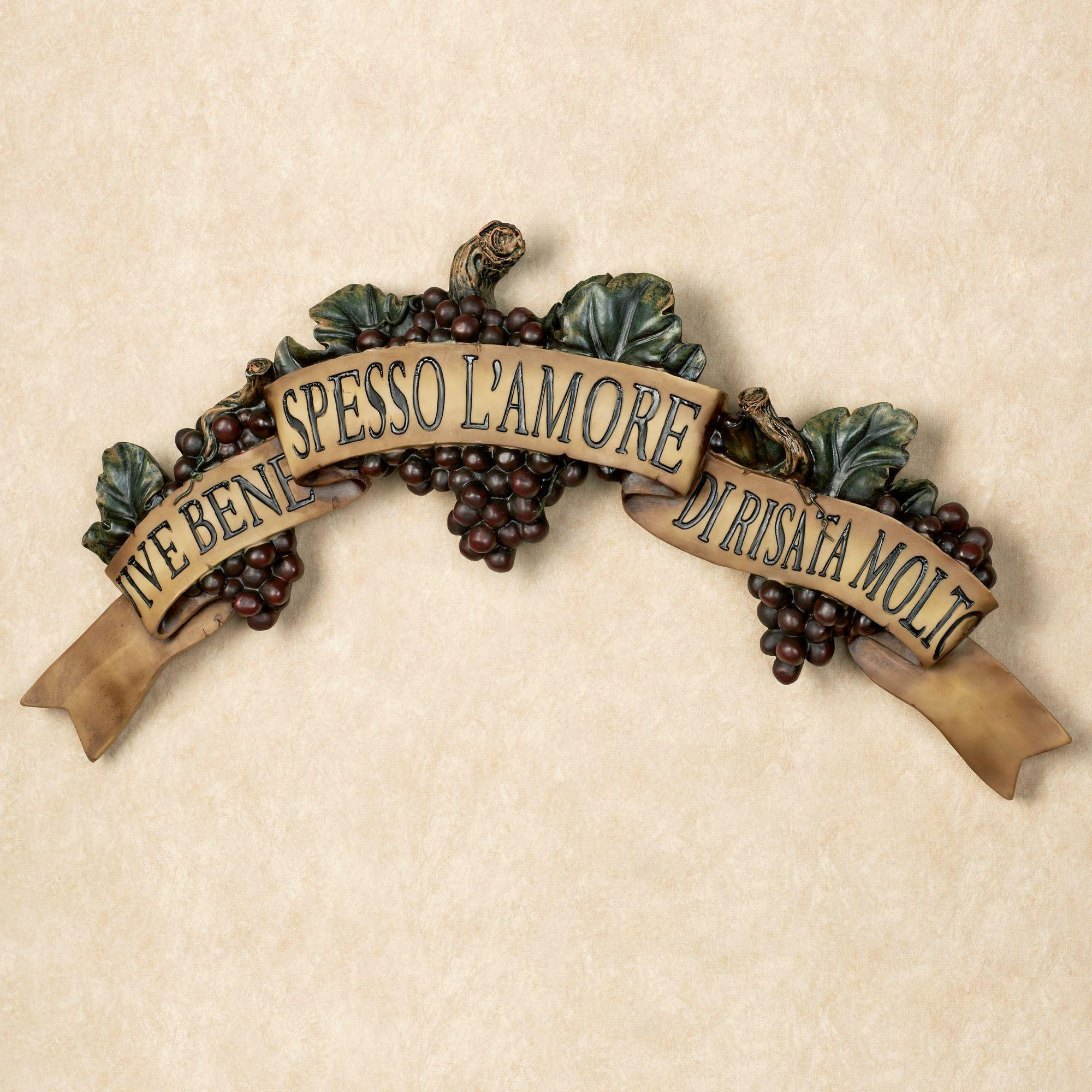 Wall Plaques | Touch Of Class Within Italian Plaques Wall Art (Image 20 of 20)