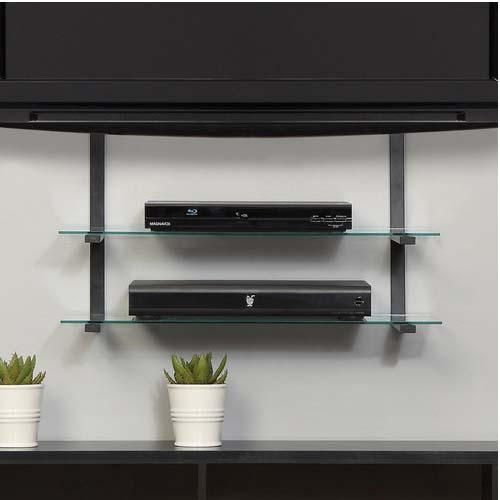 Wall Shelves Design: Sophisticated Tv Wall Mount With 2 Shelves For Most Recent Wall Mounted Tv Stand With Shelves (Image 17 of 20)