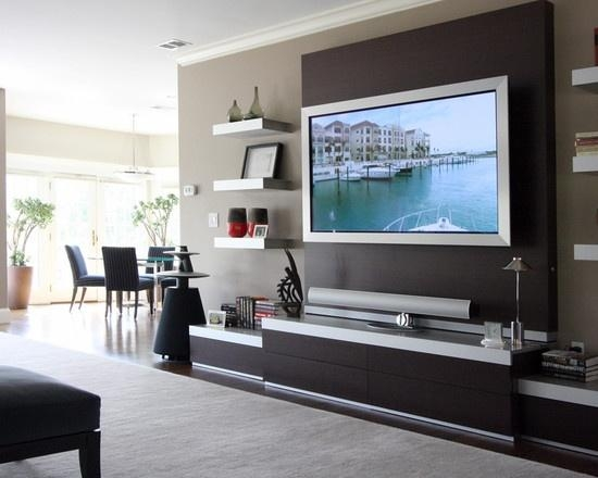 Wall Shelves Design: Wall Mounted Entertainment Shelves Center For 2017 Wall Mounted Tv Stand With Shelves (View 18 of 20)