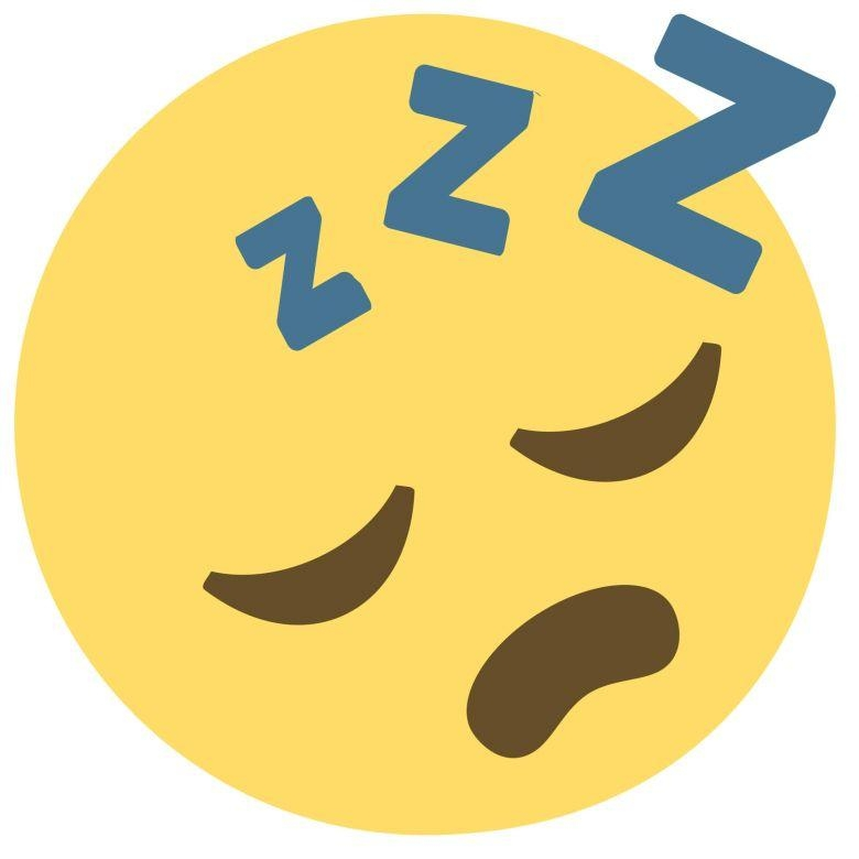 Wall Sticker Emoji Sleeping Face – Wall Art Intended For Emoji Wall Art (View 19 of 20)