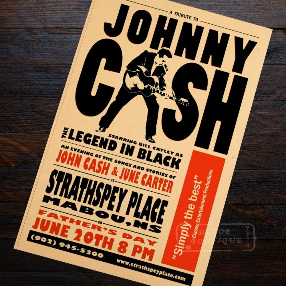 Wall Sticker Picture – More Detailed Picture About Pop Art Johnny With Regard To Johnny Cash Wall Art (View 16 of 20)