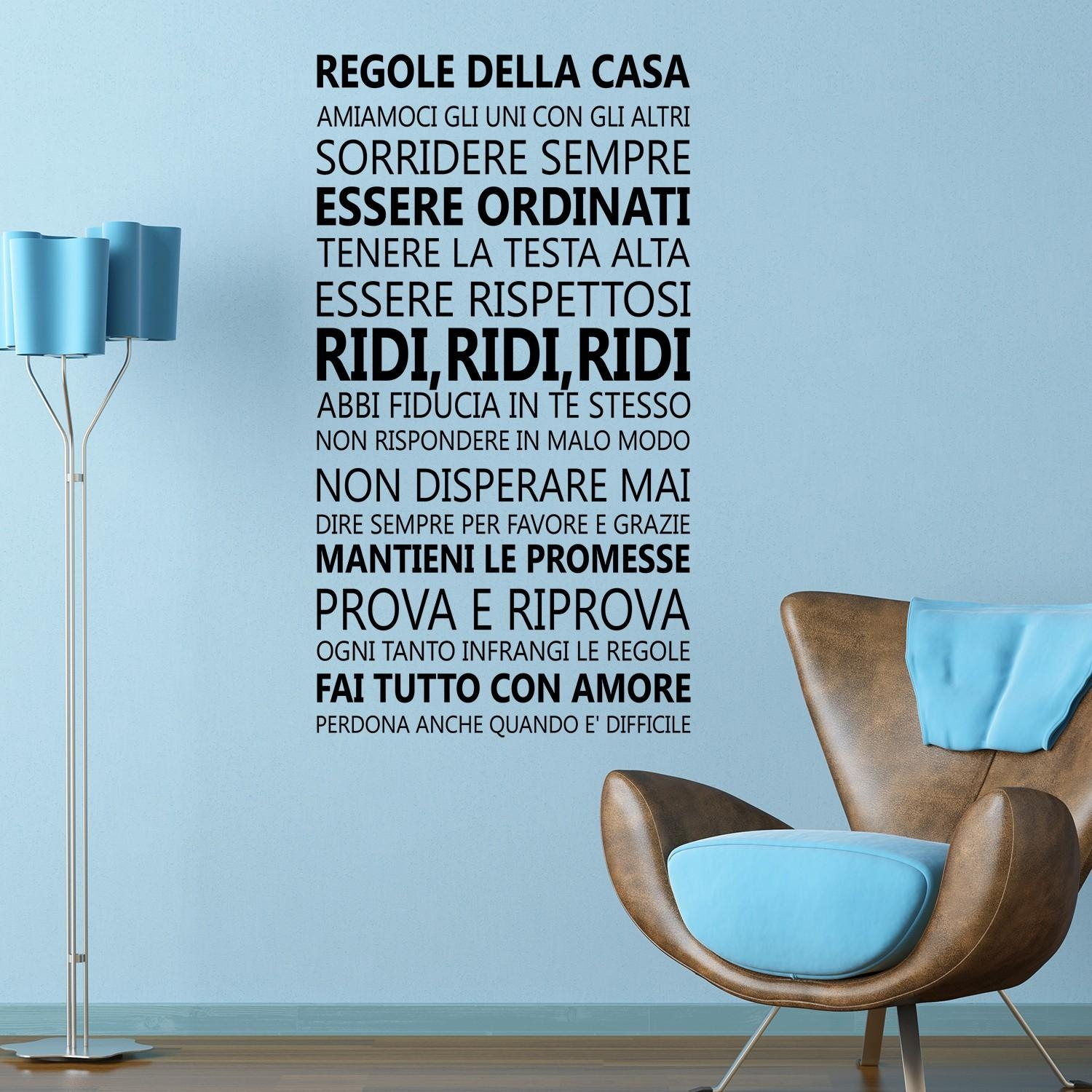 Wall Stickers Uk – Wall Art Stickers – Kitchen Wall Stickers With Regard To Italian Wall Art Quotes (View 7 of 20)