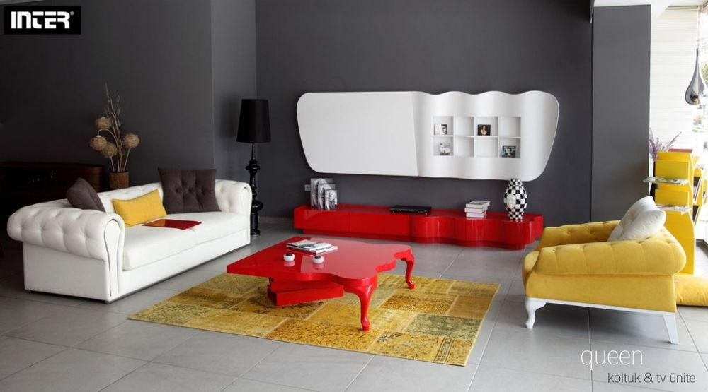Wall Tv Units Selection How? With Most Up To Date Red Tv Units (Image 19 of 20)