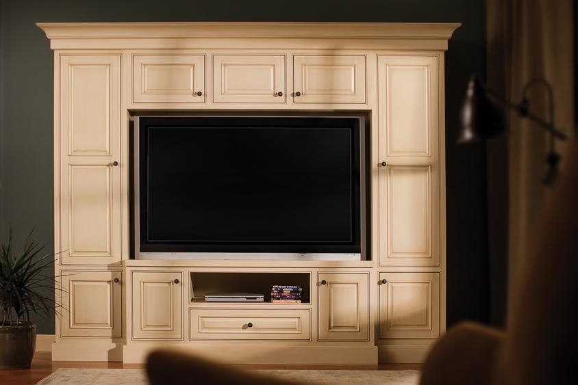 Wall Units: Amusing Tv Surround Cabinets Wall Mounted Flat Screen Intended For 2017 Large Tv Cabinets (View 19 of 20)