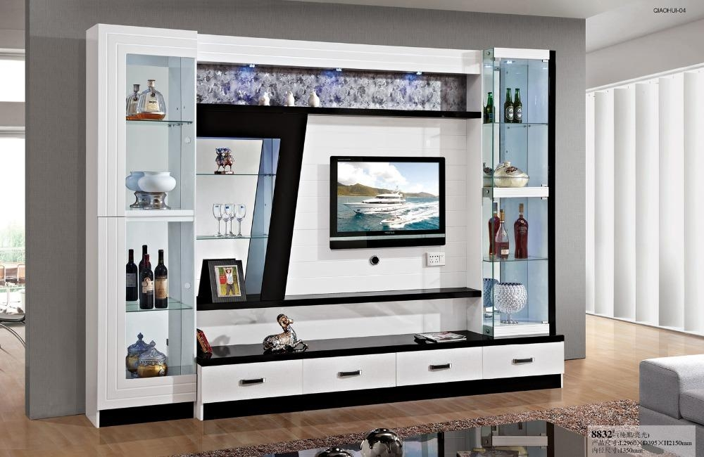 2019 latest tv cabinets and wall units tv cabinet and stand ideas for Glass wall units for living room