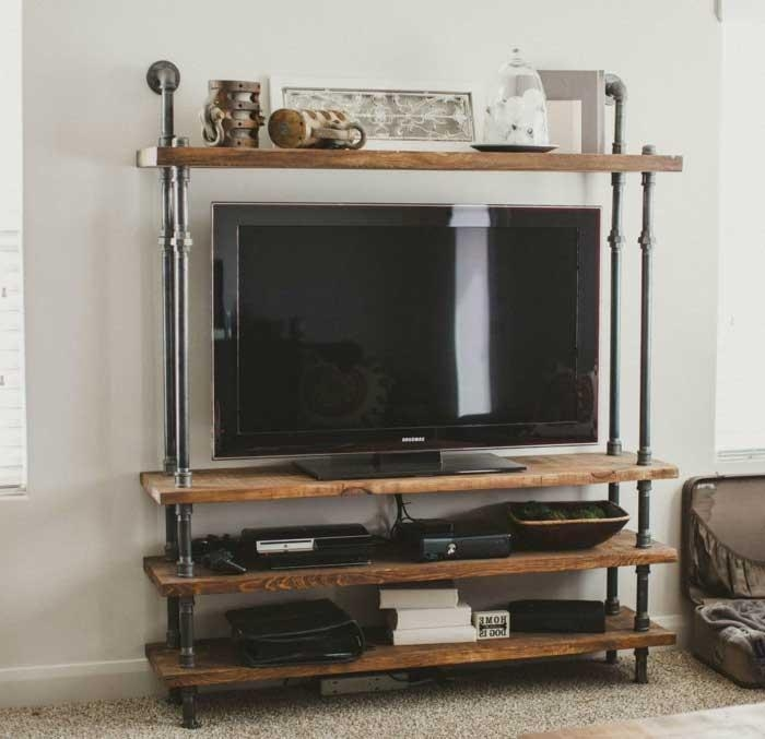 Wall Units: Extraordinary Wrought Iron Entertainment Center Metal With Regard To Best And Newest Entertainment Center Tv Stands (Image 20 of 20)