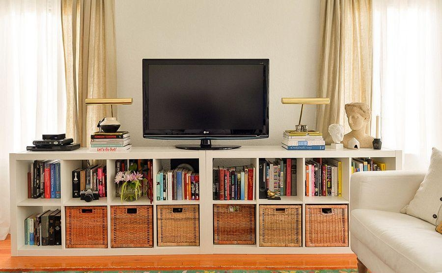 Wall Units: Glamorous Bookcase With Tv Shelf Bookshelf And Tv In Best And Newest Tv Stands With Bookcases (Image 15 of 20)