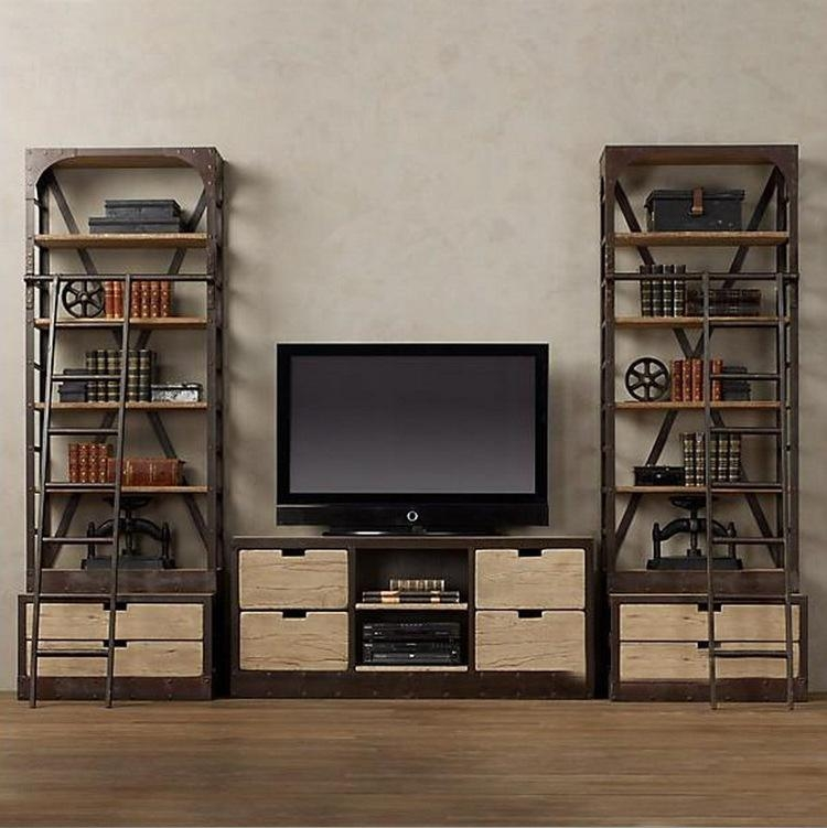Wall Units: Glamorous Bookcase With Tv Shelf Bookshelf And Tv In Most Up To Date Tv Stands With Bookcases (View 4 of 20)