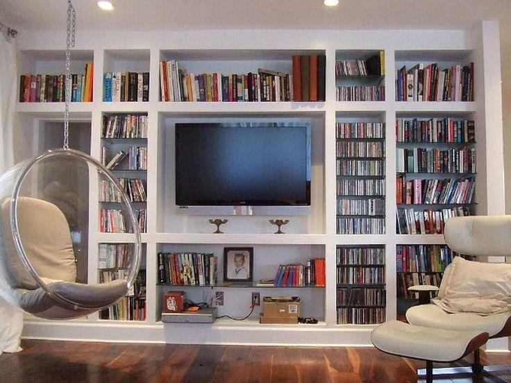 Wall Units: Glamorous Bookcase With Tv Shelf Bookshelf And Tv Intended For Most Up To Date Bookshelf Tv Stands Combo (View 14 of 20)