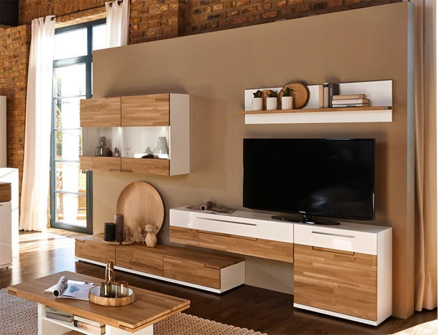 Wall Units: Inspiring Oak Wall Unit Used Wall Units For Sale, Oak With Regard To Current Contemporary Oak Tv Cabinets (Image 20 of 20)