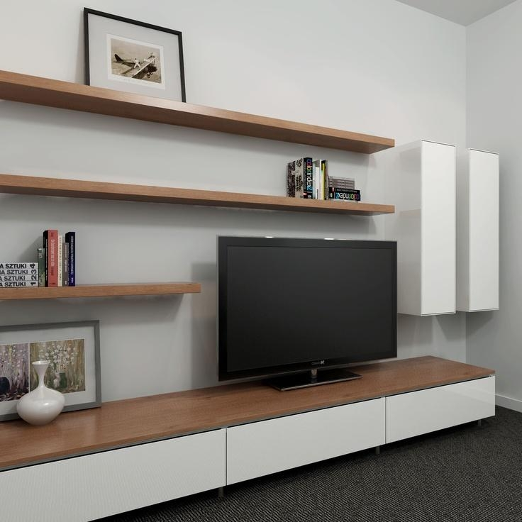 Wall Units: Interesting Floating Entertainment Unit Floating Inside Best And Newest Slimline Tv Cabinets (Image 19 of 20)