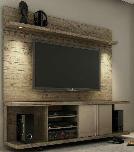 Wall Units: Interesting Wall Unit Tv Stand Entertainment Units For Within Current Wooden Tv Stands And Cabinets (Image 19 of 20)