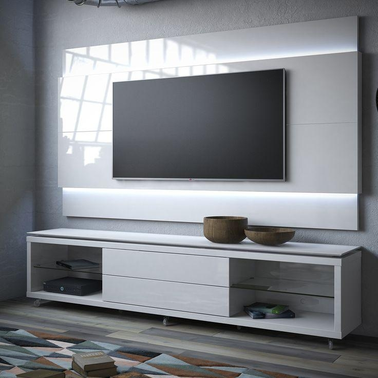 20 collection of floating glass tv stands tv cabinet and stand ideas for Glass wall units for living room