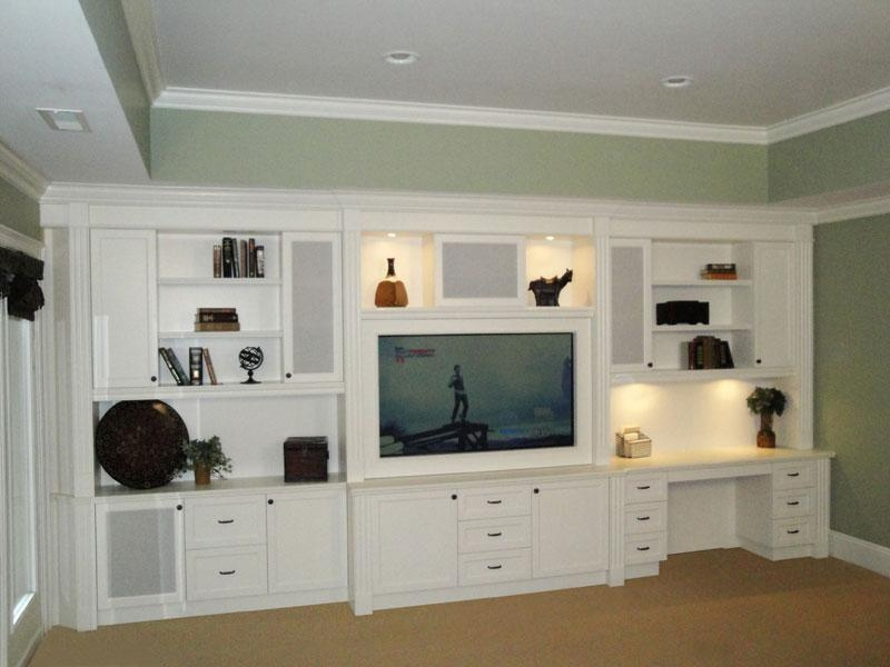 Wall Units: Outstanding Entertainment Center Desk Desk Tv Stand Intended For Most Up To Date Tv Stand And Computer Desk Combo (View 9 of 20)