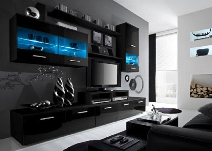 Wall Units: Stunning Big Tv Wall Units Wall Unit Designs For Lcd With Most Popular Big Tv Cabinets (View 4 of 20)