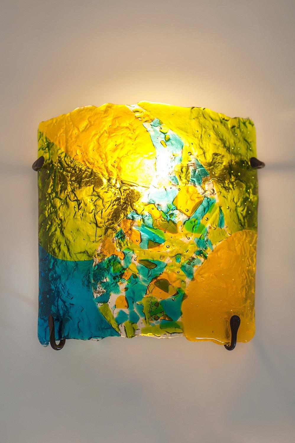Wall Art Ideas: Fused Glass and Metal Wall Art (Explore #13 of 20 ...