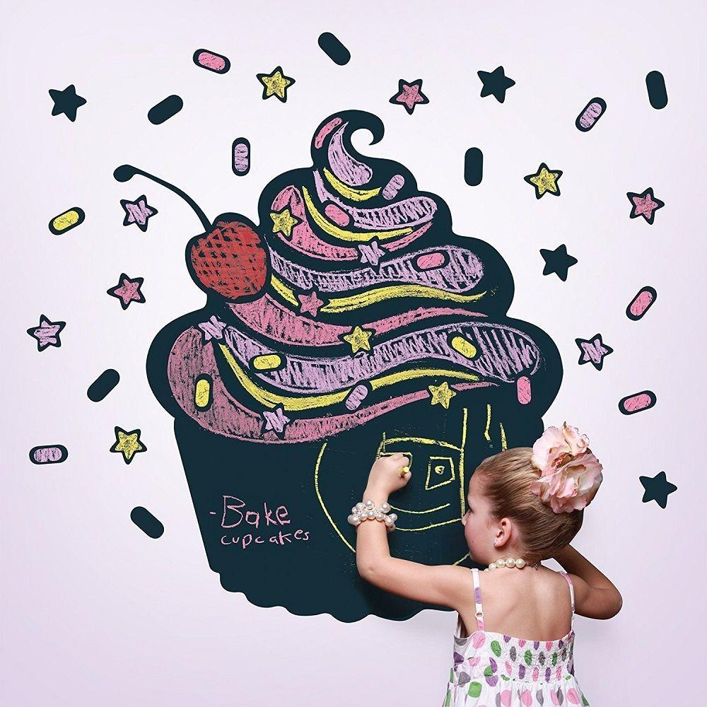 Wallcandy Arts Black Cupcake Chalkboard Kit » Gadget Flow In Wallcandy Arts (Image 8 of 20)