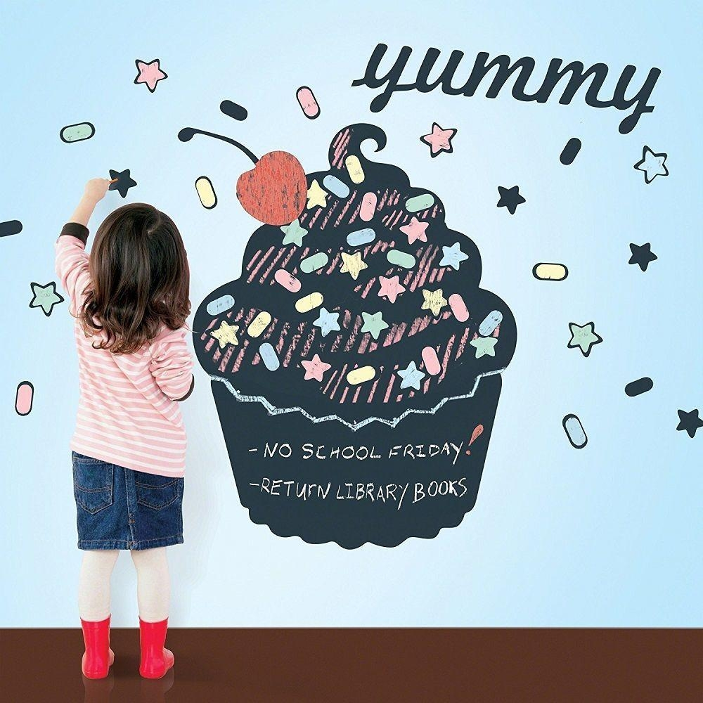 Wallcandy Arts Black Cupcake Chalkboard Kit » Gadget Flow Within Wallcandy Arts (Image 11 of 20)