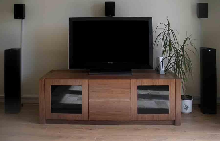 Walnut Av Furniture, Walnut Av Cabinets, Walnut Tv Stands, Walnut For Newest Walnut Tv Cabinets With Doors (Image 18 of 20)