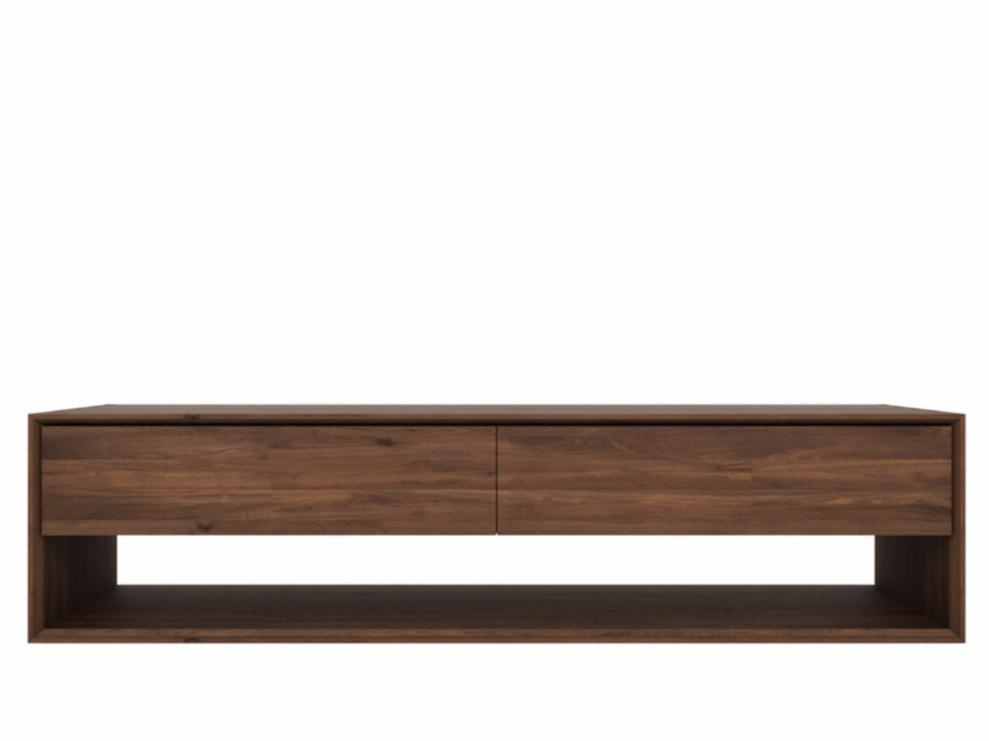 Walnut Nordic | Walnut Tv Cabinetethnicraft Intended For Recent Walnut Tv Cabinets With Doors (View 18 of 20)