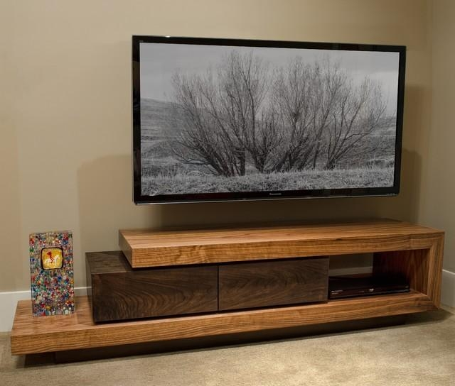 Walnut Tv Stand – Contemporary – Home Theater – Boise  J Intended For Recent Modern Walnut Tv Stands (Image 20 of 20)