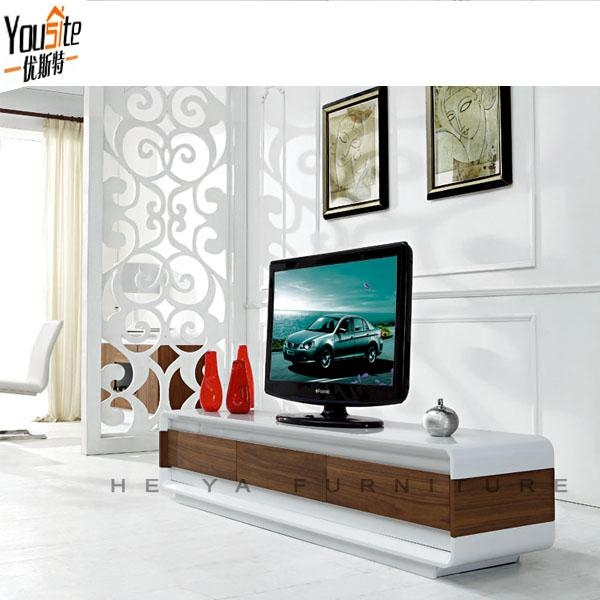 Walnut Wooden Lcd Tv Unit Wood Furniture Exquisite Designs – Buy Within Most Recently Released Fancy Tv Cabinets (View 7 of 20)