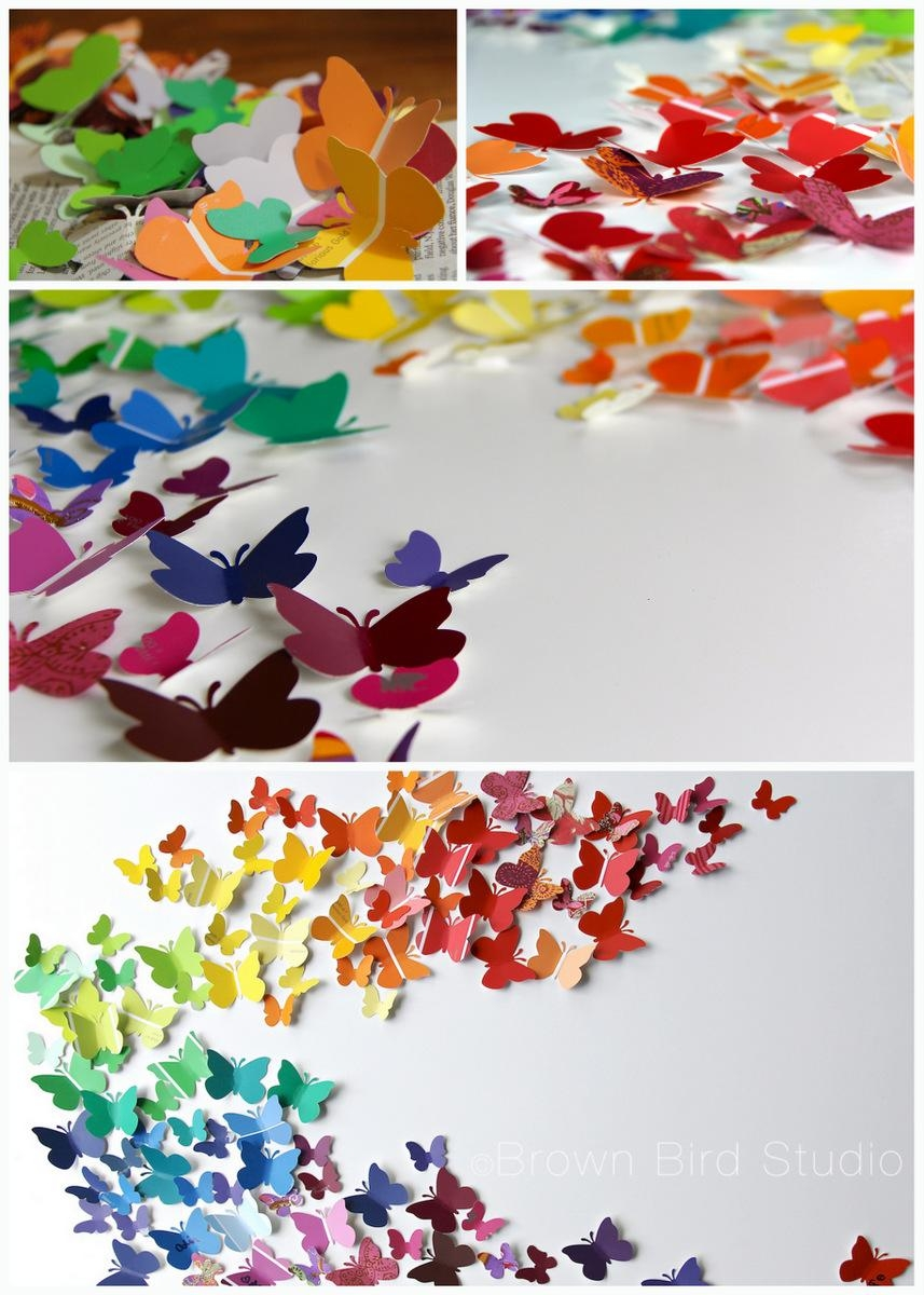 Water :: Earth :: Wind :: Fire — Tag Archive — Butterfly Throughout Rainbow Butterfly Wall Art (View 2 of 20)