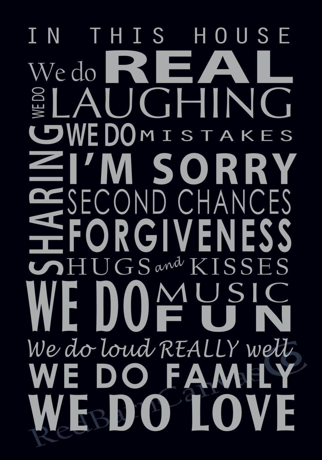 We Do Family Custom Canvas Word Art Canvas Family Rules Regarding Family Rules Canvas Wall Art (Image 20 of 20)