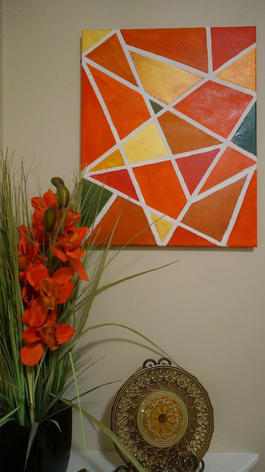 We Love Cozy Homes: Diy Wall Art Intended For Duct Tape Wall Art (Photo 14 of 20)